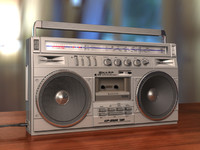 3d model sharp radio cassette recorder