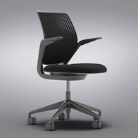Crate and Barrel - Steelcase cobi Black Office Chair