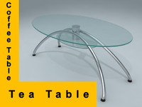 tea coffee table 3d max