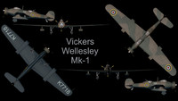 3ds max rare vickers wellesley mk-1