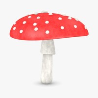 3ds max poisonous amanita muscaria