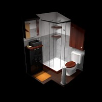 bathroom tiny c4d free