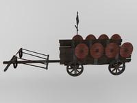 barbarian war chariot 3d fbx