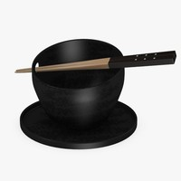 3d max bowl chopsticks
