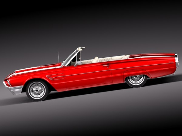 thunderbird 1965 convertible 3d lwo - Ford Thunderbird Convertible 1965... by squir