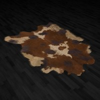 3d model fur rug skin