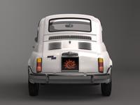 3d fiat 500 model