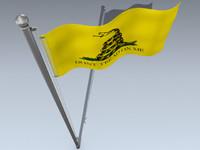 american flag 3d model