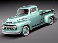 3d f1 pickup 1951