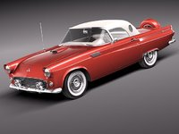 3d c4d thunderbird 1956 antique