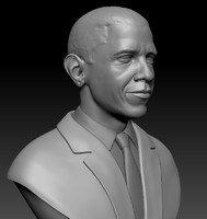 zbrush barack obama bust 3ds