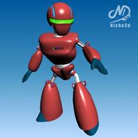 futuristic robot - 23-a 3d model