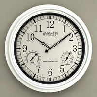 Wall Clock with Thermometer and Hygrometer 03
