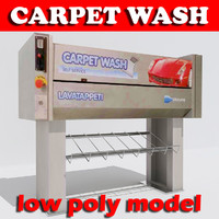 carpet wash machine 3d 3ds