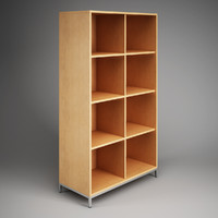 CGAxis Office Storage Cubby Shelf Unit 09