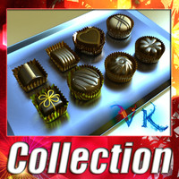 8 Chocolates Collection - High Detailed.