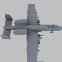 max a-10 thunderbolt aircraft