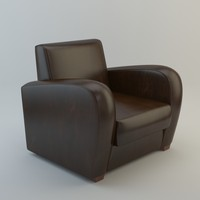 3d model club chair | 1