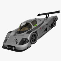 mercedes sauber c9 gray 3ds