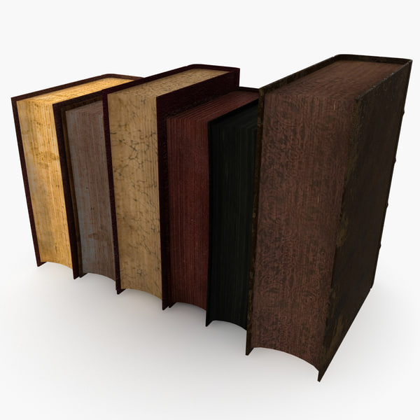 3d old books - Old Books Collection... by 3d_molier