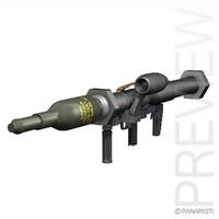 3d model anti-tank launcher rocket