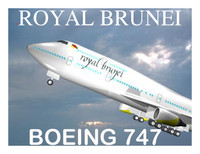 royal brunei 747 3d model