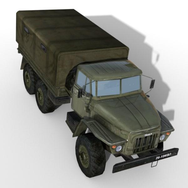 Ural 375 Military Truck