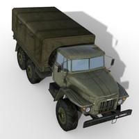 truck ural 3d model