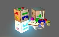 wooden block 3d model