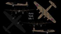 3d rare avro york mk-1
