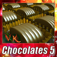 3d chocolates chocolat model