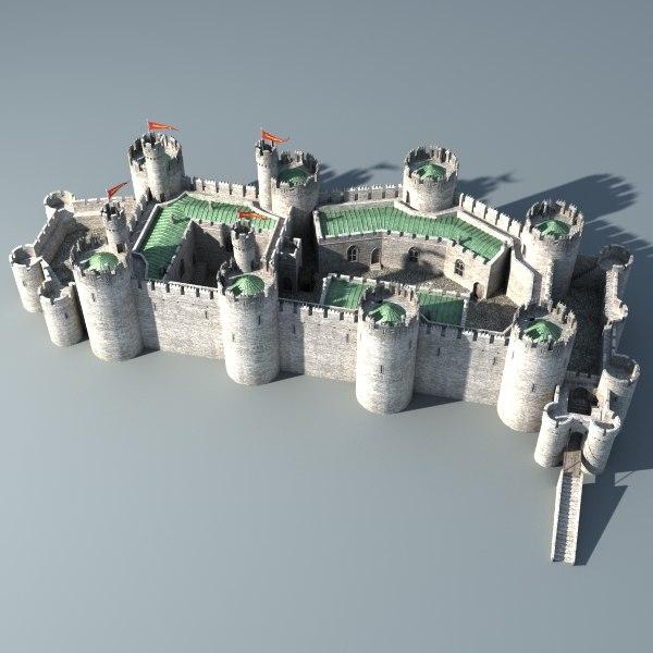 Castle 3d obj Design a castle online