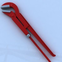 pipe wrench 3d max