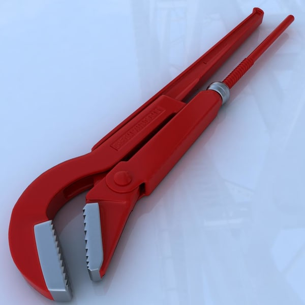 pipe wrench 3d max - Pipe wrench workshop tool... by ragusa