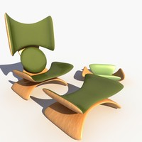 concept chair dreaming butterfly 3d 3ds