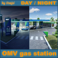 OMV gas station DAY and NIGHT version