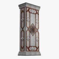 3d marble column