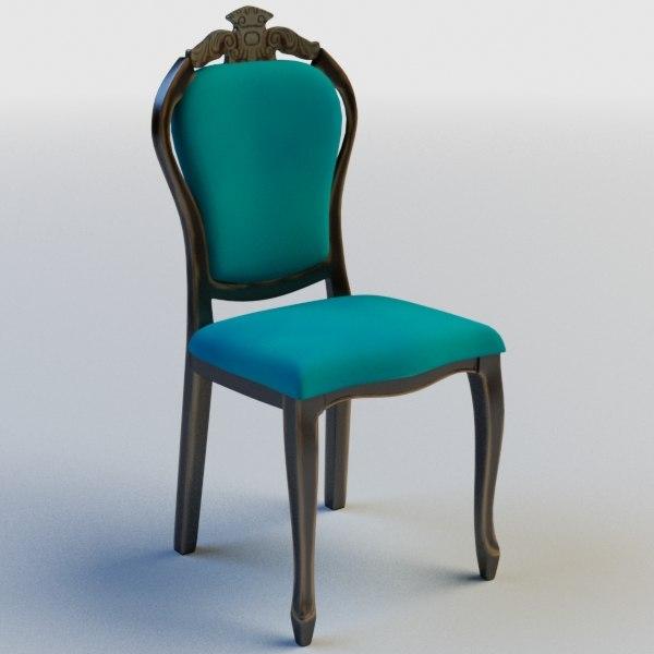 Chair Classic Wood Obj