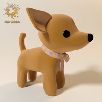 dog soft toy realistic