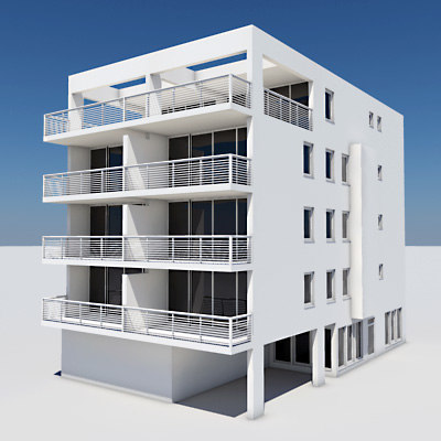 3d model apartment building for Apartment 3d model