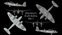 3d model rare blackburn botha mk-1