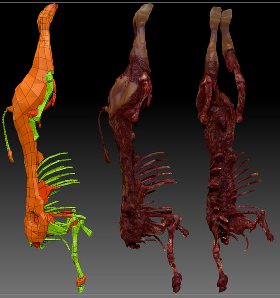 3d model dead cow - Cow Dead Body 2... by StormRisingOriginal