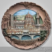 3d model decorated plate