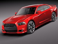 3d dodge charger srt8 2012