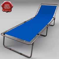 folding cot 3d model