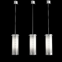 Masiero  aissi s1 12 Ceiling bar lamp suspension crystal glass chandelier