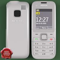 nokia c2 00 white 3d model