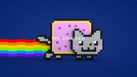 3d nyan cat