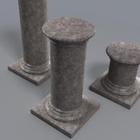 3d pedestals support statue