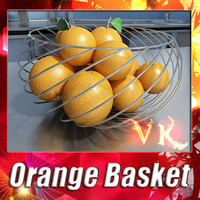 3d fruit basket orange resolution